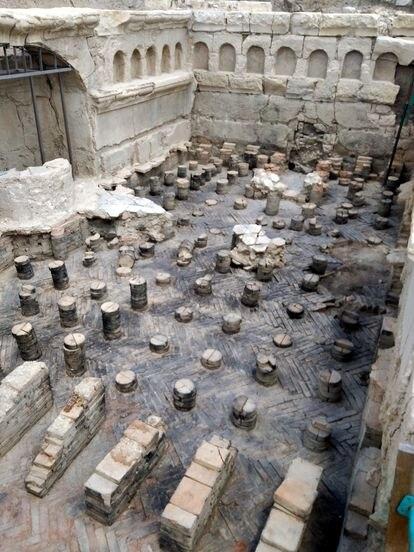 Termas de la ciudad de Virtus Iulia, en el yacimiento de Torreparedones.