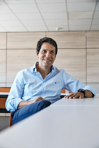 Marcos García March, en un momento de la entrevista.