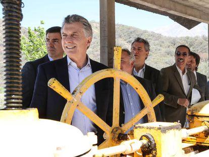 Mauricio Macri presenta un nuevo sistema hídrico en Salta.