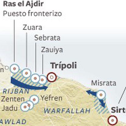 Avance del levantamiento popular en Libia.