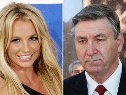 Britney Spears (a la derecha) y su padre Jamie.