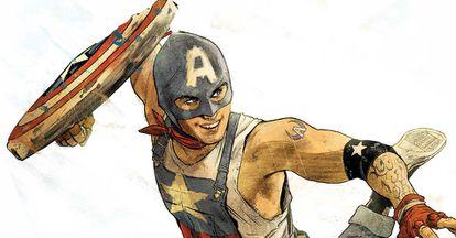 Aaron Fisher es el nuevo Capitán América en el nuevo cómic que Marvel publicará el próximo junio.
