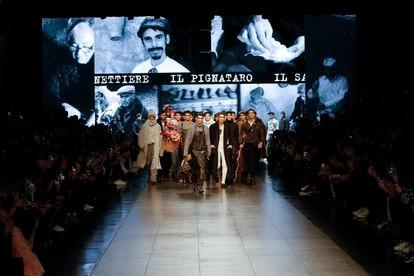 El último desfile de Dolce&Gabbana en Milán, el pasado enero.