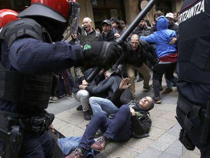 Tensión en Errenteria tras el acto Ciudadanos