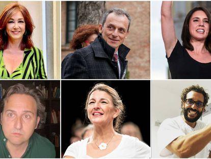 """Ana Rosa Quintana, Pedro Duque, Irene Montero, Iker Jiménez, Yolanda Díaz y Jesús Candel """"Spiriman"""" son algunos de los personajes que cuya popularidad ha crecido a la sombra del coronavirus."""