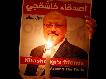 Manifestación en recuerdo de Jamal Khashoggi, el 25 de octubre de 2018.