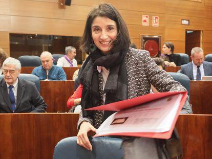 Pilar Llop, en la Asamblea de Madrid en 2020.