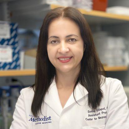 Sonia Villapol, en su laboratorio en Houston.