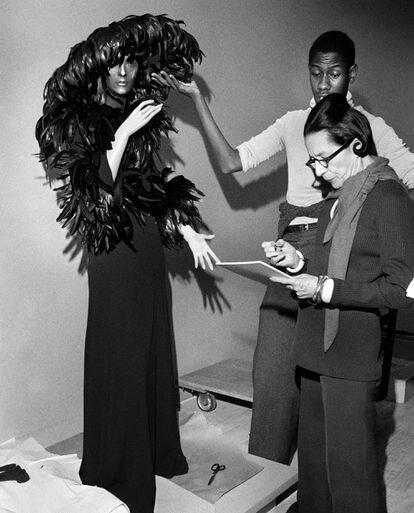 Leon Talley con su mentora Diana Vreeland, en 1974.