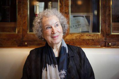 Margaret Atwood, en el hotel Alvear de Buenos Aires.