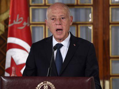 El presidente de Túnez, Kais Saied, en una imagen de archivo.