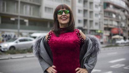 Lita Claver, 'la Maña', en la avenida Paralell de Barcelona
