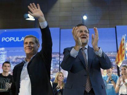 Alberto Fernández Díaz y Mariano Rajoy en un acto en Barcelona.