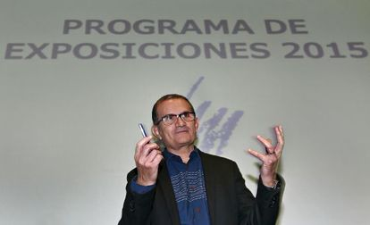 José Miguel G. Cortés, en la presentación de la exposición.