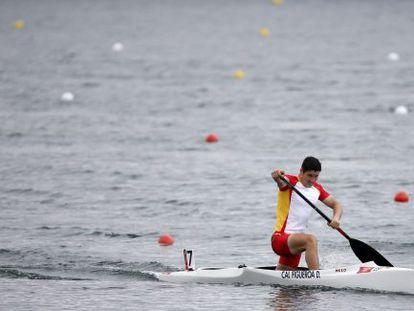 David Cal, en la final de C1 1.000m, en el canal de Eton.