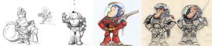 La evolución de Buzz Lightyear.