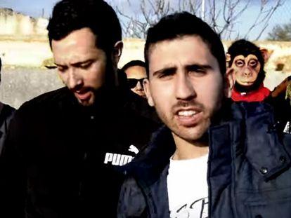 El rapero Valtonyc, en un vídeo de Youtube.