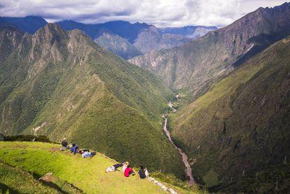 Ruinas de Huiñay Huayna, en el Camino Inca (Perú).