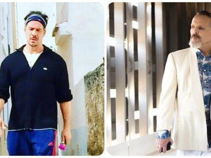 Nacho Palau y Miguel Bosé en imágenes recientes que han publicado en Instagram.