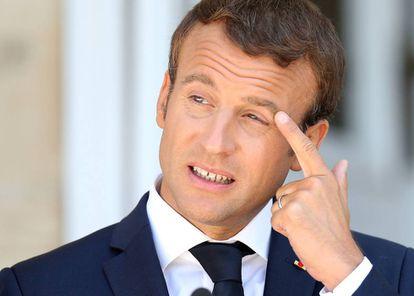 El presidente francés Emmanuel Macron en Bulgaria el pasado 25 de agosto.