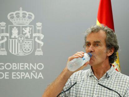 Fernando Simón durante la rueda de prensa de este jueves para explicar la evolución de la pandemia.