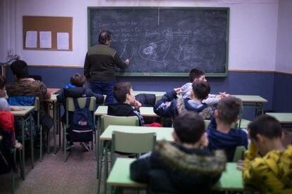 Alumnos en un aula de un instituto de la Comunidad de Madrid.