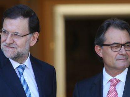Rajoy y Mas en la reunión en La Moncloa el pasado julio.