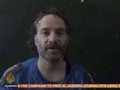 Fotograma de un vídeo difundido por los captores de Curtis el pasado mes de junio.