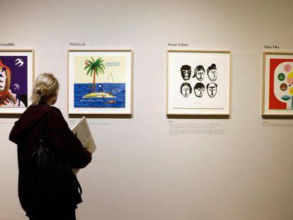 Una muestra de la exposición en la Universitat de València.