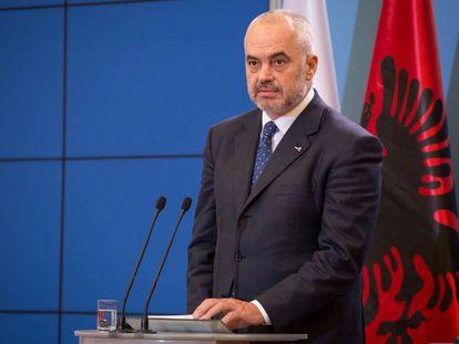 El primer ministro de Albania, Edi Rama, durante una visita a Polonia en diciembre del año pasado.