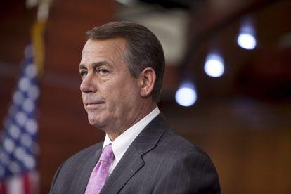 El presidente de la Cámara de Representantes de EEUU, John Boehner, comparece ante los medios sobre el presupuesto, el 14 de abril de 2011