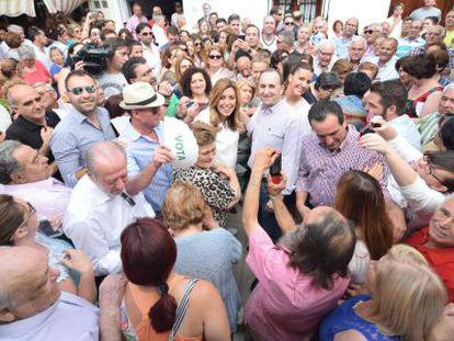 Susana Díaz, en un acto en La Roda de Andalucía.