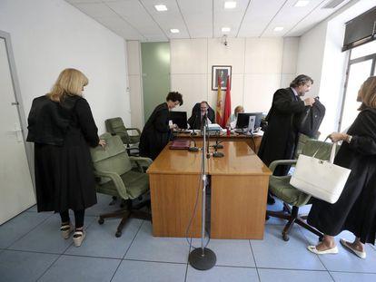 Audiencia del juzgado de Madrid especializado en cláusulas suelo, el pasado marzo.