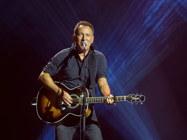 """(FILES) In this file photo taken on September 30, 2017, Bruce Springsteen performs during the closing ceremony of the Invictus Games 2017 at Air Canada Centre in Toronto, Canada. - Springsteen announced on September 10, 2020, he will release a new album on October 23, giving fans a sneak peek by dropping its title track """"Letter To You."""" (Photo by Geoff Robins / AFP)"""