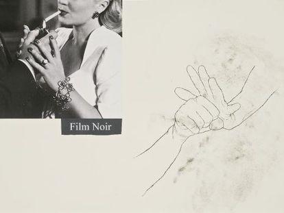'Film Noir', 2006. Acetato polivinílico, pigmentos, grafite e colagem sobre papel.