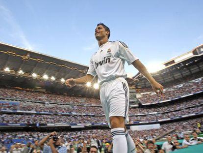 Cristiano Ronaldo, durante su presentación con el Madrid.Ronaldo