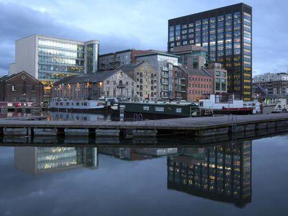Vista de Silicon Docks, el área de Dublín en el que tienen su centro de operaciones grandes tecnológicas como Google, Facebook, Linkedin o Twitter.