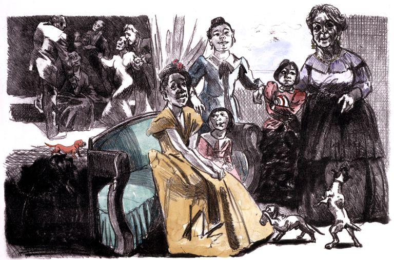 'Autorretrato con nietos (2001)', de la artista portuguesa Paula Rego.