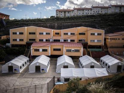 Campamento para inmigrantes en Las Palmas, el pasado 30 de noviembre.