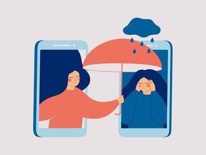 Ilustración sobre el estrés.