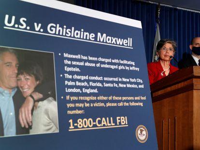 Los fiscales de Nueva York anuncian la detención de Ghislaine Maxwell el pasado 2 de julio.