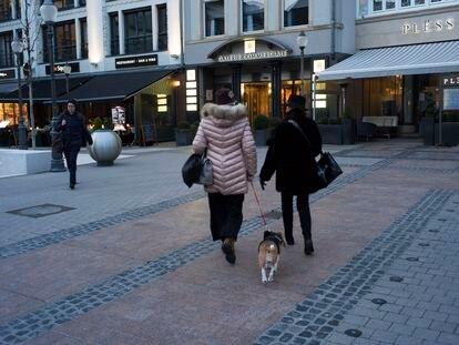 Viandantes en la capital luxemburguesa, el año pasado.