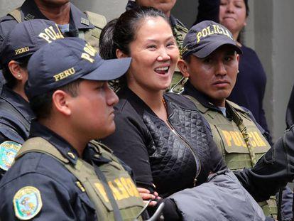 Keiko Fujimori durante su traslado al penal.