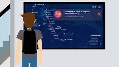 Así será la pantalla que Alstom pretende introducir en los andenes