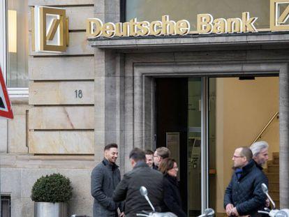 Una sucursal del Deutsche Bank en Frankfurt.