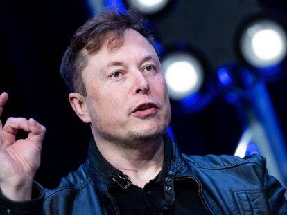 Elon Musk durante una conferencia el pasado marzo.