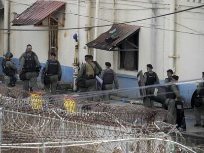 Un operativo policial en la prisión de Nueva Esperanza en la ciudad de Colón, en 2015. AP