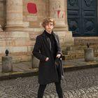 Elizabeth Duval, el lunes delante de la sede histórica de la Sorbonne, en París.