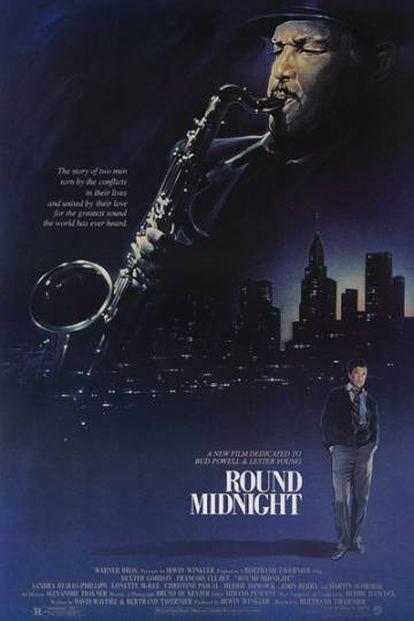Cartel de 'Round Midnight'.