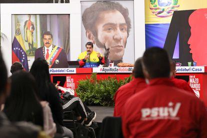 Venezuelan President Nicolás Maduro during an act in the Diosdado Cabello program on July 28.